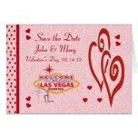 Ahorre el el día de San Valentín Las Vegas de la Tarjeta De Felicitación