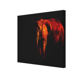 Ahorre el elefante lona envuelta para galerias