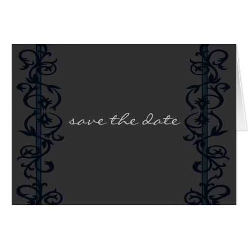 Ahorre el elegante simple de la fecha tarjeta de felicitación