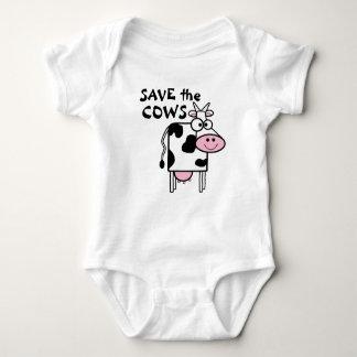 Ahorre el estampado de animales lindo de las vacas camisas