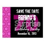 Ahorre el fiesta W1750 rosado de la sorpresa 70.a  Postales