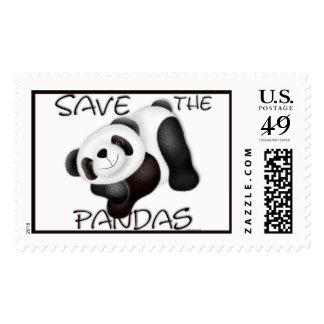 Ahorre el franqueo de las pandas timbres postales