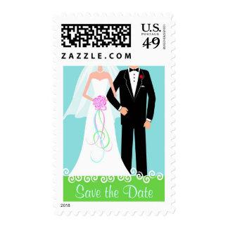 Ahorre el franqueo del boda de la fecha