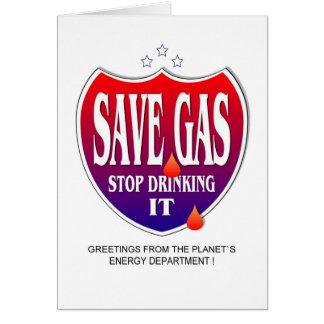 Ahorre el gas tarjetas