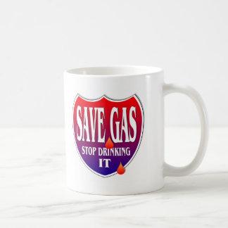 Ahorre el gas taza