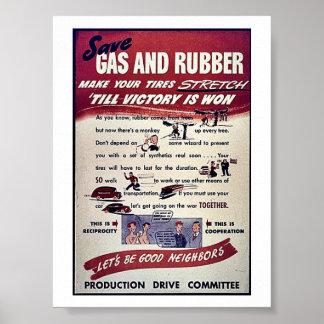 Ahorre el gas y el caucho impresiones
