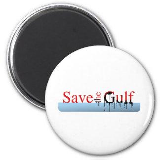 Ahorre el golfo imán para frigorifico