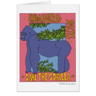Ahorre el gorila tarjeta pequeña