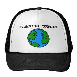 Ahorre el gorra de la tierra