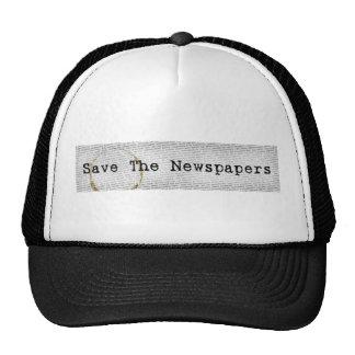 Ahorre el gorra de los periódicos