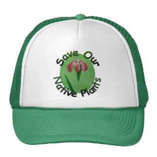 Ahorre el gorra del iris de las plantas nativas