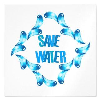 Ahorre el gráfico del agua con las gotitas de agua invitaciones magnéticas