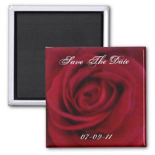 Ahorre el imán adaptable del rosa rojo de la fecha