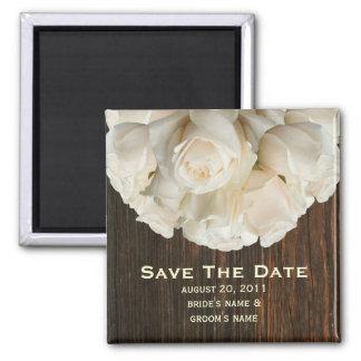 Ahorre el imán de la fecha - los rosas blancos y B
