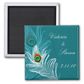 Ahorre el imán de la fecha - pavo real elegante