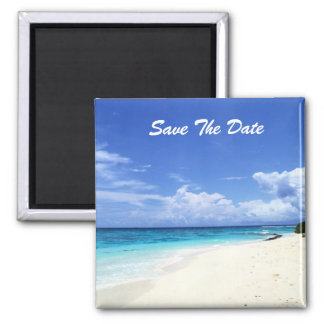 Ahorre el imán de la playa de la fecha