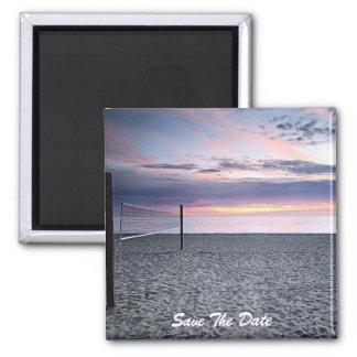 Ahorre el imán de la puesta del sol de la playa de