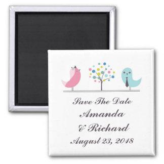 Ahorre el imán de los pájaros de novia y del novio