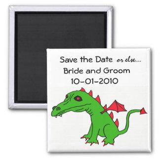 Ahorre el imán del dragón de la fecha