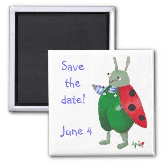 Ahorre el imán del insecto de la fecha