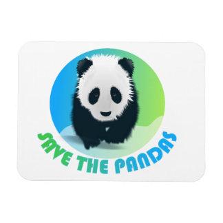 Ahorre el imán flexible de las pandas