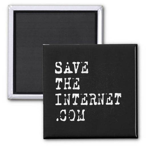 Ahorre el Internet Imán Cuadrado
