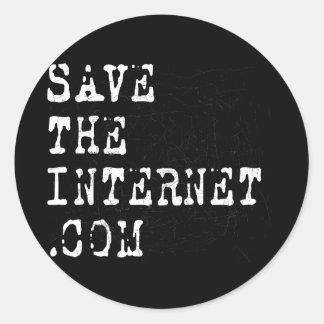 Ahorre el Internet Pegatina Redonda