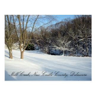 Ahorre el invierno de la llanura de inundación de tarjetas postales