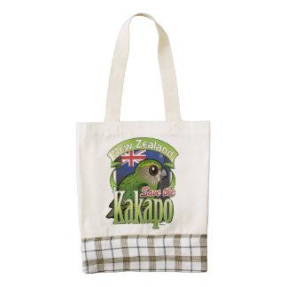 Ahorre el Kakapo de Nueva Zelanda Bolsa Tote Zazzle HEART