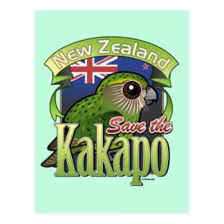 Ahorre el Kakapo de Nueva Zelanda Postales