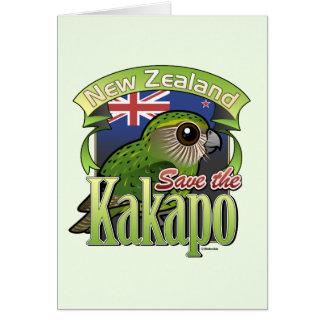 Ahorre el Kakapo de Nueva Zelanda Tarjeta Pequeña