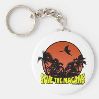 Ahorre el llavero de los Macaws