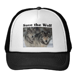 Ahorre el lobo gorros bordados
