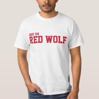 Ahorre el lobo rojo salvaje de la extinción playera