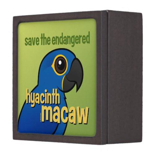 Ahorre el Macaw en peligro del jacinto Caja De Regalo De Calidad