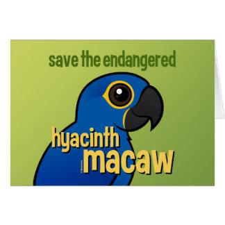 Ahorre el Macaw en peligro del jacinto Tarjeta