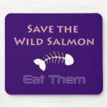Ahorre el Mousepad de color salmón salvaje Tapete De Ratones