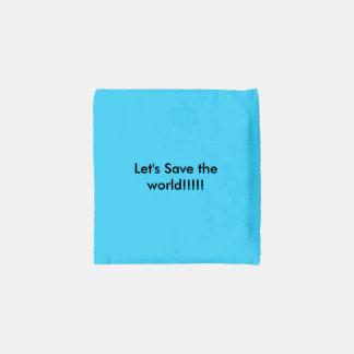 Ahorre el mundo bolsa reutilizable