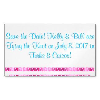 Ahorre el nombre Kelly&Bill de la fecha están Tarjetas De Visita Magnéticas (paquete De 25)