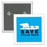 Ahorre el oso polar pins