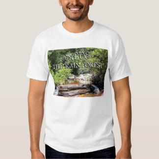 Ahorre el paisaje de la multa de la selva tropical camisas