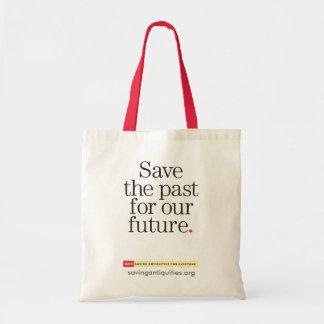 Ahorre el pasado para nuestro bolso futuro bolsa lienzo