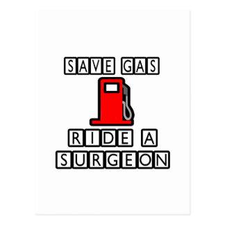 Ahorre el paseo del gas… un cirujano postal