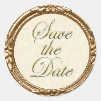 Ahorre el pegatina/el sello de la fecha