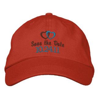 Ahorre el personalizable de la fecha gorras bordadas