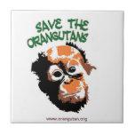Ahorre el personalizado Trivet de los orangutanes Azulejo