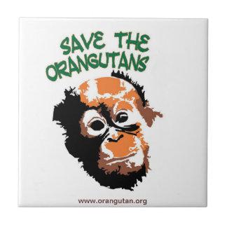 Ahorre el personalizado Trivet de los orangutanes Azulejo Cuadrado Pequeño