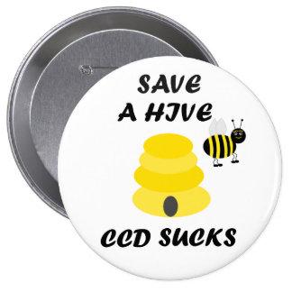 Ahorre el Pin del botón de las colmenas