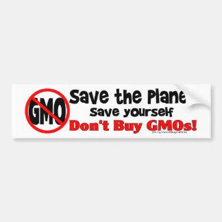 Ahorre el planeta, ahórrese: ¡No compre los GMOs! Pegatina Para Auto