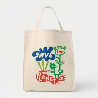 Ahorre el planeta bolsa tela para la compra